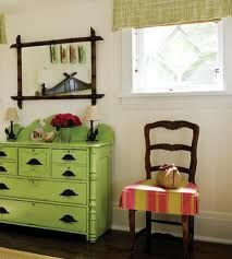 Deco green painted furniture.