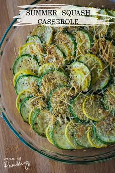 This healthy yellow squash casserole is the perfect way to use the abundance of summer squash and zucchini! Yellow squash and zucchini are topped off with cheese and breadcrumbs and baked until tender. Veggie Recipes Healthy, Healthy Vegetables, Healthy Appetizers, Vegetable Recipes, Healthy Foods, Veggies, Healthy Eating, Side Dishes Easy, Vegetable Side Dishes