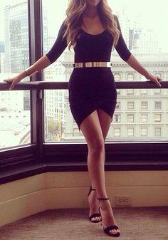 Asymmetric Bodycon Dress