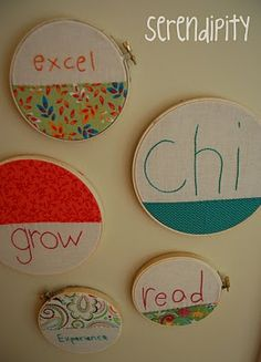 handstitched words to describe the school year