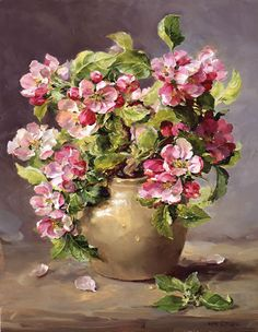 Apple Blossom - Limited Edition Print | Mill House Fine Art – Publishers of Anne Cotterill Flower Art