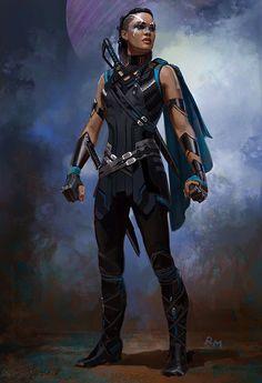 """valkyriesbrunnhildes: """"Valkyrie concept art for Thor: Ragnarok by Ryan Meinerding """""""