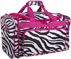 Ever Moda Travel Duffle Bag (Pink Zebra) Kids Luggage, Luggage Bags, Duffle Bag Travel, Duffel Bag, Lightweight Luggage, Thing 1, Wholesale Bags, Pink Zebra, Cosmetic Bag