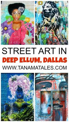 Things to do in Dallas, Texas - Discover the best street art in Dallas at the Deep Ellum neighborhood (part of Downtown). The area contains more than 40 elaborated murals. You will understand right away why this is one of the most popular attractions in t Texas Roadtrip, Texas Travel, Travel Usa, Travel Tips, Visit Dallas, Dallas Texas, Austin Texas, Dallas Food, Visit Texas