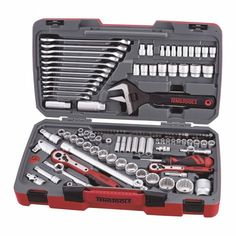 127 Piece 1/4, 3/8 and 1/2 inch Drive Socket Set Metric and SAE