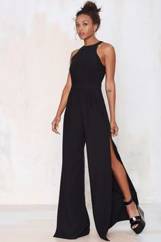 Nasty Gal Side View Palazzo Jumpsuit | Shop Clothes at Nasty Gal