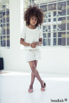 love to complete white look! #fashion #kids #white