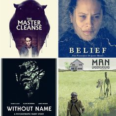 We need your help! We can watch 2 of these 4 movies today at @imaginefilmfestival. We start with Man Underground or Belief: The Possession of Janet Moses and end with The Master Cleanse or Without Name.  What should we do?  Man Underground. An X-Files premise turns into a heartwarming tragicomedy about likeable outsiders.  Belief: The Possession of Janet Moses.  Intense docudrama about the notorious exorcism of a young woman offers a bizarre insight into local religious rituals.  Without…