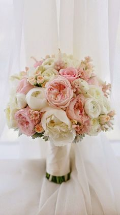 Soft and ethereal peony spring wedding bouquet. | Summer Wedding Ideas On A Budget @bestbrilliance