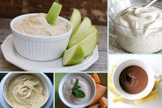 Creamy Peanut Butter Dip, Fat Free Cheesecake Dip, Nutella Cream Cheese Fruit Dip, Healthy 'Caramel' Dip