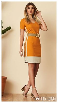 Look book 12 – cora canela Simple Dresses, Cute Dresses, Beautiful Dresses, Casual Dresses, Fashion Dresses, Short Sleeve Dresses, Dresses For Work, Summer Dresses, Work Outfits