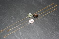 Smoky quartz and 18k gold bracelet Cushion cut smoky by bellallure