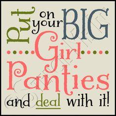 Big Girl Panties Stencil - Typography Stencils