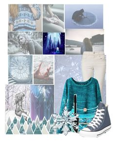 """""""Ice"""" by disneyice ❤ liked on Polyvore featuring Armani Jeans, Chicnova Fashion, Domo Beads, Max Factor, Swarovski, Converse and Disney"""