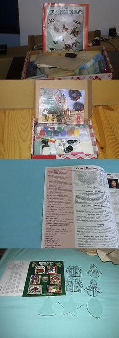 Instruction 16496: Carol Smith Homespun Holiday Crafts Kit By Plaid, New In Original Box -> BUY IT NOW ONLY: $55 on eBay!