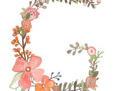 Z Floral Letter Illustration Typography Print by Makewells