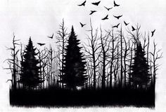 forest tattoo drawing - Google Search