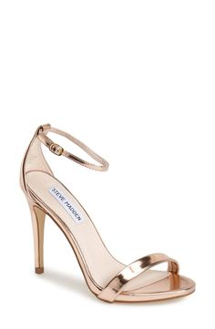 Stunning rose gold Steve Madden sandals!