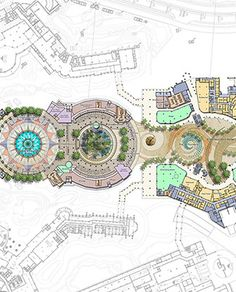 Masterplan Architecture, Modern Architecture, Architecture Concept Drawings, Parking Design, Master Plan, Amusement Park, Garden Design, Layouts, Vintage World Maps