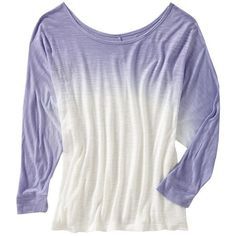 Old Navy Womens Dip Dye Dolman Tee Shirt ($20) ❤ liked on Polyvore featuring tops, t-shirts, shirts, sweaters, women, fitted shirts, dolman sleeve tops, white fitted shirt, old navy shirts and old navy t shirts