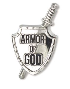 LDS Armor of God Tie Tack tie pin with shield and sword, young men