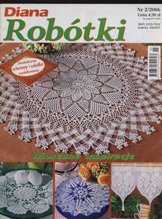 Crochet Book Cover, Crochet Books, Crochet Art, Filet Crochet, Crochet Motif, Crochet Doilies, Russian Crochet, Crochet Magazine, Rugs