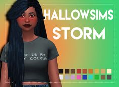 Hallowsims Storm Maxis MatchedWhen I saw this hair I just knew I had to have it in ea's colors and instead of waiting for somebody else to do it I did it myself! It comes in all of ea's colors and in...