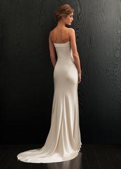 simple bias-cut silk dress  | April Wedding Dress, Amanda Wakeley Collection