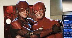 Justice League's Ezra Miller Made a Flash Cameo in Crisis on Infinite Earths Ezra Miller, John Francis Daley, Arrow Flash, O Flash, Star Labs, Melissa Benoist, Grant Gustin, Jim Lee, Supergirl