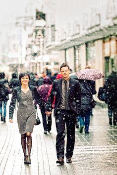 Nach dem Standesamt in Köln bei Schnee