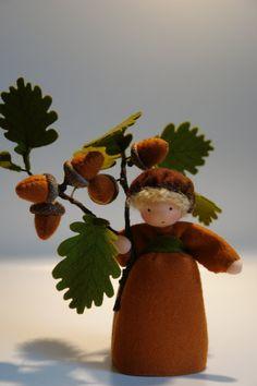 Acorn Flower Child Waldorf Inspired by KatjasFlowerfairys