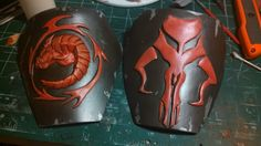 Shoulder bells of a Mandalorian Merc