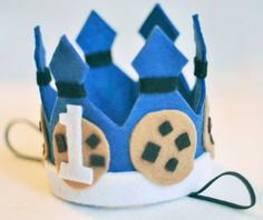 Cookie Monster First Birthday Crown SnuggleBand - Customize! - Free Shipping! on Etsy, $24.99