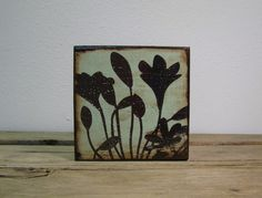 Floral Art Block Painting Wall Hanging WildFlower  by MatchBlox, $29.00