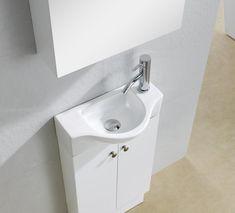 Small Bathroom Sinks, Tiny House Bathroom, Small Bathroom, Single Bathroom Vanity, Bathroom Essentials, Bathroom Decor, Vanity, Small Attic Bathroom, Bathroom