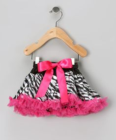 Take a look at this Hot Pink Zebra Pettiskirt - Infant & Toddler by Diva Daze on #zulily today!