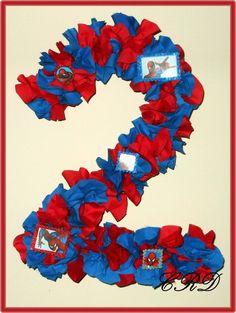 Spiderman Birthday Number Wreath - Custom. $30.00, via Etsy.