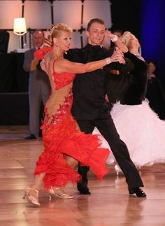 Mikolaj Czarnecki and Charlene Proctor dance at the United States Dancesport Championships in Orlando, Florida 2013.  Photo by Park West Photography.