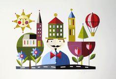 Mr Finigans Secret by Ellen Giggenbach original home made collage from boxbird gallery