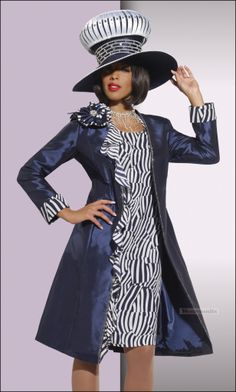 donna vinci fall and winter collection 2014 | ... Fashion Couture Dress and Coat in Navy and White by Donna Vinci 5432