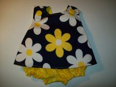 Baby Girl Boutique Pinafore With Bloomers  in by lisaslittlelasses, $20.00