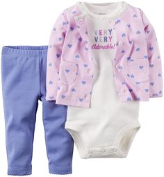 Carter's 3 Piece Cardigan Set, Make Me Smile, New Born >>> Quickly view this special  product, click the image : Baby clothes