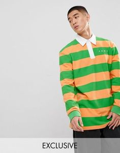 huge discount d7aca 4cc64 Puma Striped Rugby Shirt In Orange Exclusive To ASOS at asos.com