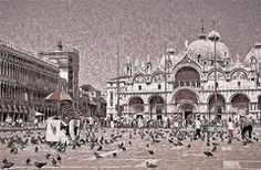 - St. Marks Basilica B and W  by Allen Beatty