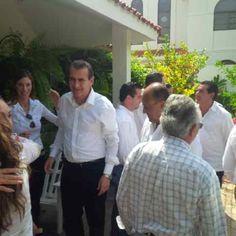 Destacados priístas @Emilio_Gamboa_ y @René Juárez en #Cancún apoyando candidatos de la Coalición PRI-PVEM-PANAL #Elecciones2013