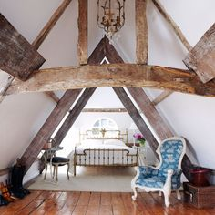 love the wood in the room