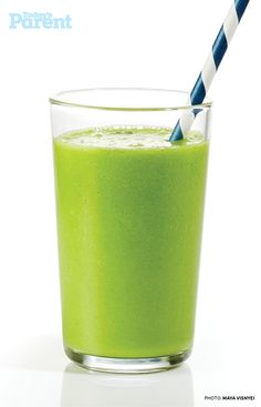 The best way to get those greens into kids' bellies is to blend them into a deliciously refreshing smoothie.
