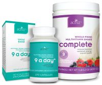 The new whole food revolution Both ACTIVZ 9 a Day+ Capsules and ACTIVZ Complete Whole-Food Multivitamin Shake