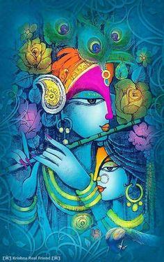 Solve Radha Krishna jigsaw puzzle online with 96 pieces Buddha Painting, Krishna Painting, Radha Krishna Pictures, Krishna Images, Krishna Love, Krishna Radha, Lord Krishna Wallpapers, Indian Art Paintings, Hindu Art