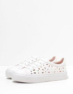 Bershka Japan - Bershka stamped sneakers